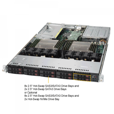 Supermicro SYS-1028UX-LL1-B8  Angle