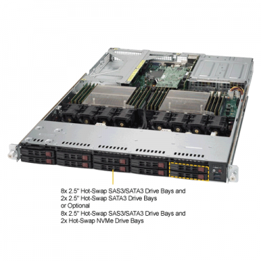 Supermicro SYS-1028UX-LL3-B8 Angle
