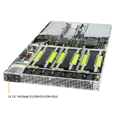 Supermicro 1U Rackmount Server SYS-1029GQ-TNRT-TopAngle