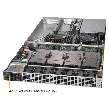 Supermicro 1U Rackmount Server SYS-1029GQ-TXRT-TopAngle
