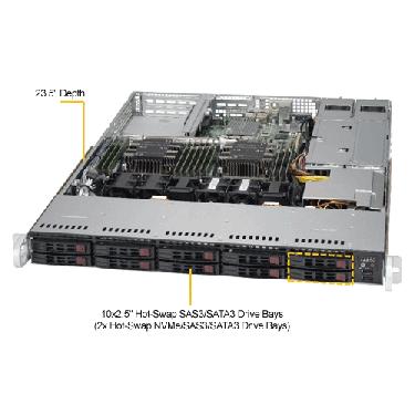 Supermicro 1U Rackmount Server SYS-1029P-WTRT-TopAngle