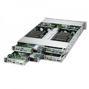 Supermicro 2U Twin2 MultiNode SYS-2027TR-H70QRF - Angle