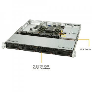 Supermicro SYS-5019P-MR - Angle