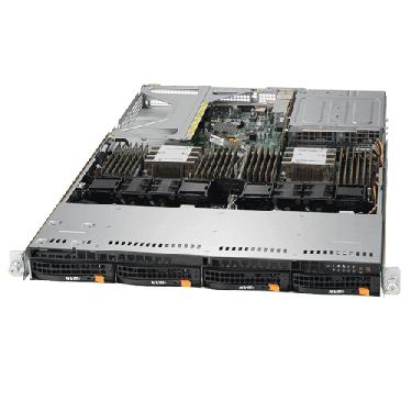 Supermicro 1U Rackmount Server SYS-6019U-TN4RT-TopAngle