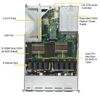 Supermicro SYS-1028UX-CR-LL1 Top