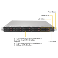 Supermicro SYS-1028UX-LL3-B8 Front