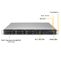 Supermicro 1U Rackmount Server SYS-1029P-WT-FrontView