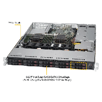 Supermicro 1U Rackmount Server SYS-1029P-WTRT-TopAngle