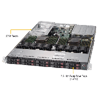 Supermicro 1U Rackmount Server SYS-1029U-TR25M-TopAngle