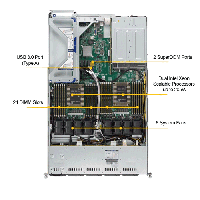 Supermicro 1U Rackmount Server SYS-1029U-TR4-Top