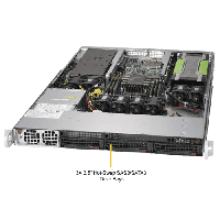 Supermicro 1U Rackmount Server SYS-5019GP-TT-TopAngle