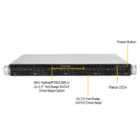 Supermicro SYS-5019P-MR - Front