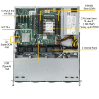 Supermicro 5019P-MT Top