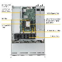Supermicro 1U Rackmount Server SYS-5019P-WTR -TopView