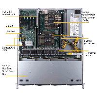 Supermicro 1U Rackmount Server SYS-6019P-MT-TopView