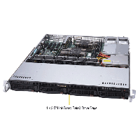 Supermicro 1U Rackmount Server SYS-6019P-MTR-TopAngle