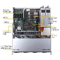 Supermicro 1U Rackmount Server SYS-6019P-MTR-TopView
