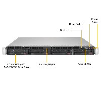 Supermicro 1U Rackmount Server SYS-6019P-WT-FrontView