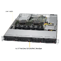 Supermicro 1U Rackmount Server SYS-6019P-WT-TopAngle