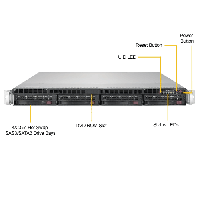 Supermicro 1U Rackmount Server SYS-6019P-WTR -FrontView