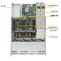 Supermicro 1U Rackmount Server SYS-6019P-WTR -TopView