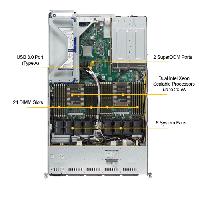Supermicro 1U Rackmount Server SYS-6019U-TR25M-TopView