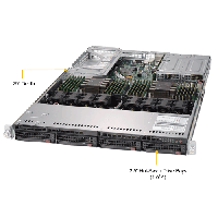 Supermicro 1U Rackmount Server SYS-6019U-TRTP -TopAngle