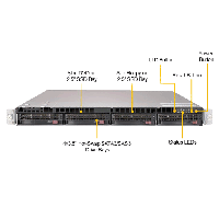 Supermicro 1U Rackmount Server SYS-6019U-TRTP2 - Front