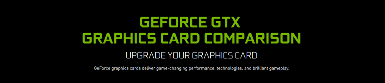NVIDIA GeoForce Comparison Chart