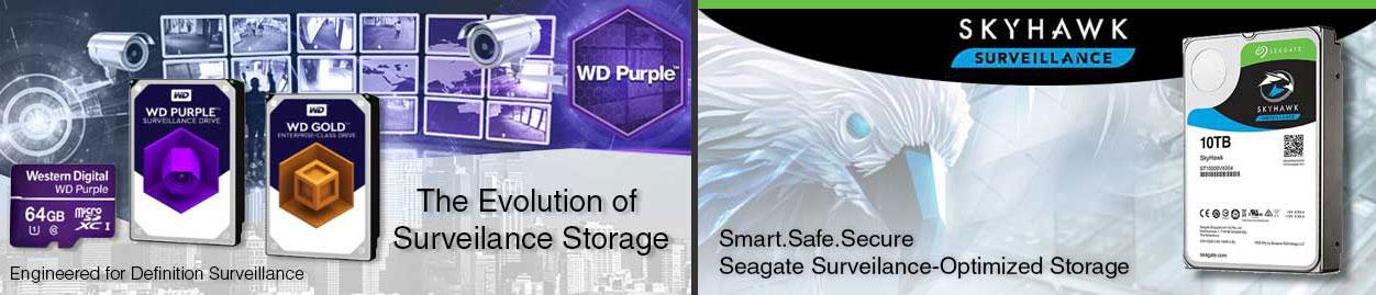 Western Digital & Seagate Surveilance Storage