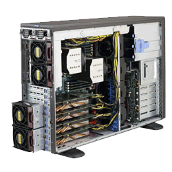 Supermicro 4X 6X Xeon Phi Server Solution SYS-7048GR-TR