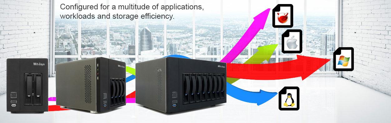 Mini NAS Server - 2Bay/4Bay/8Bay