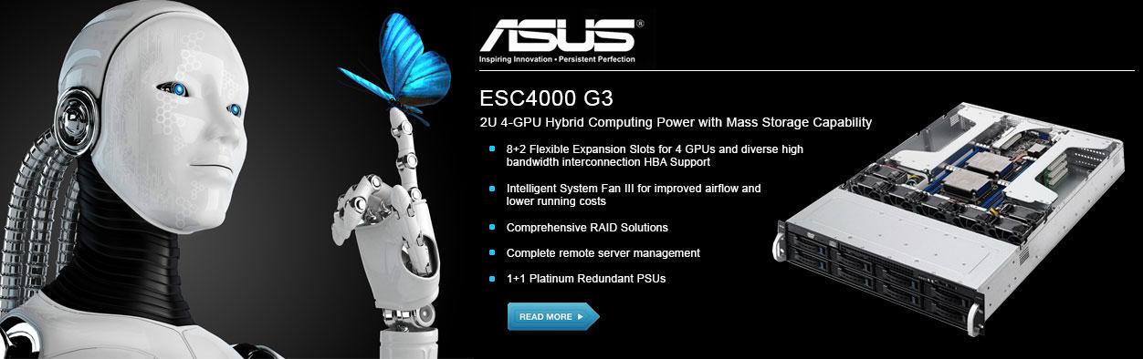 ASUS ESC4000 G3 2U 4-GPU Hybrid HPC