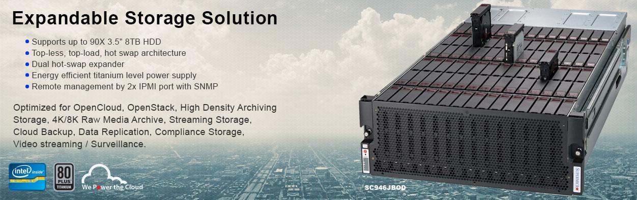 Supermicro Expandable Storage Solution SC946JBOD